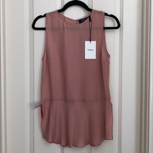 NWT Theory Nicella silk blouse size small